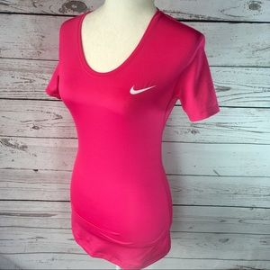 Nike pink Pro cool Dri-fit crewneck t-shirt.